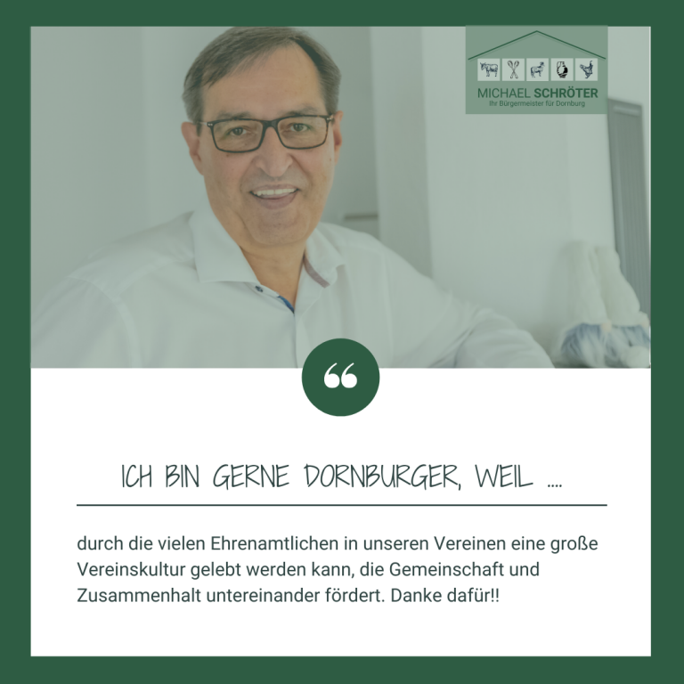 Read more about the article Ich bin gerne Dornburger, weil