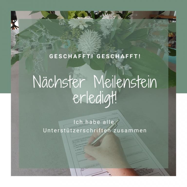 Read more about the article Unterstützerschriften