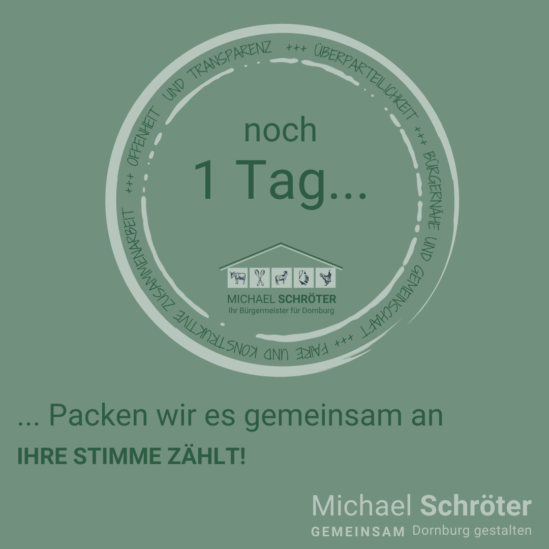 Read more about the article Noch 1 Tag …