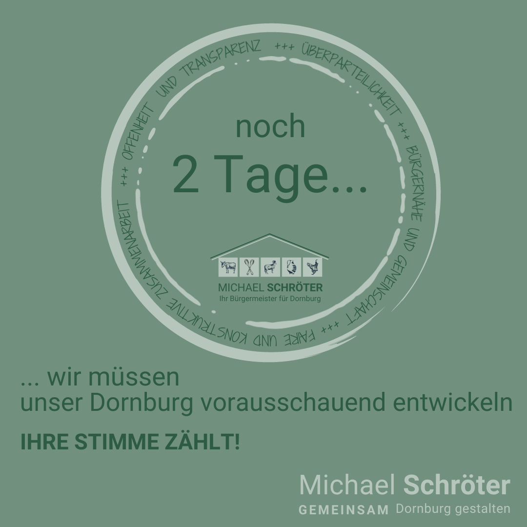 Read more about the article Noch 2 Tage …