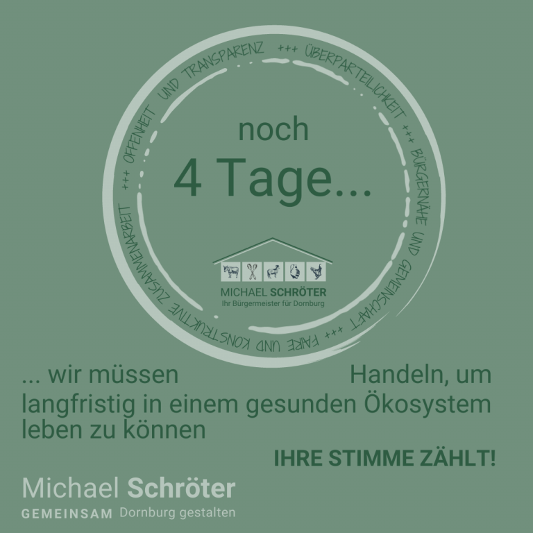 Read more about the article Noch 4 Tage …