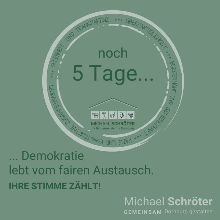 Read more about the article Noch 5 Tage …