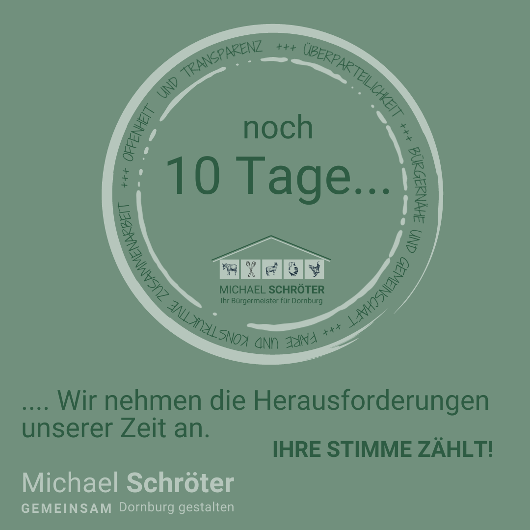 Read more about the article Noch 10 Tage …