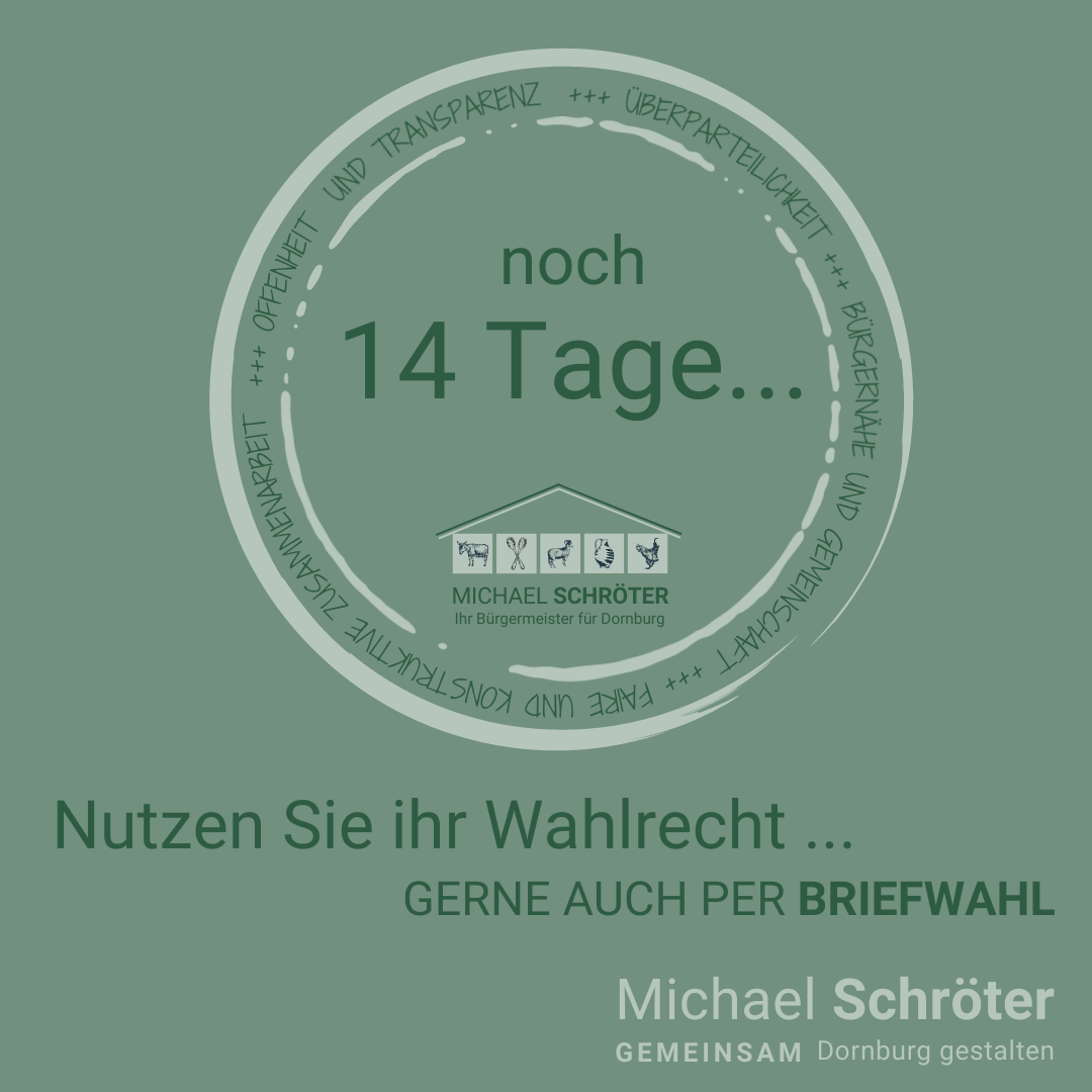 Read more about the article Noch 14 Tage …